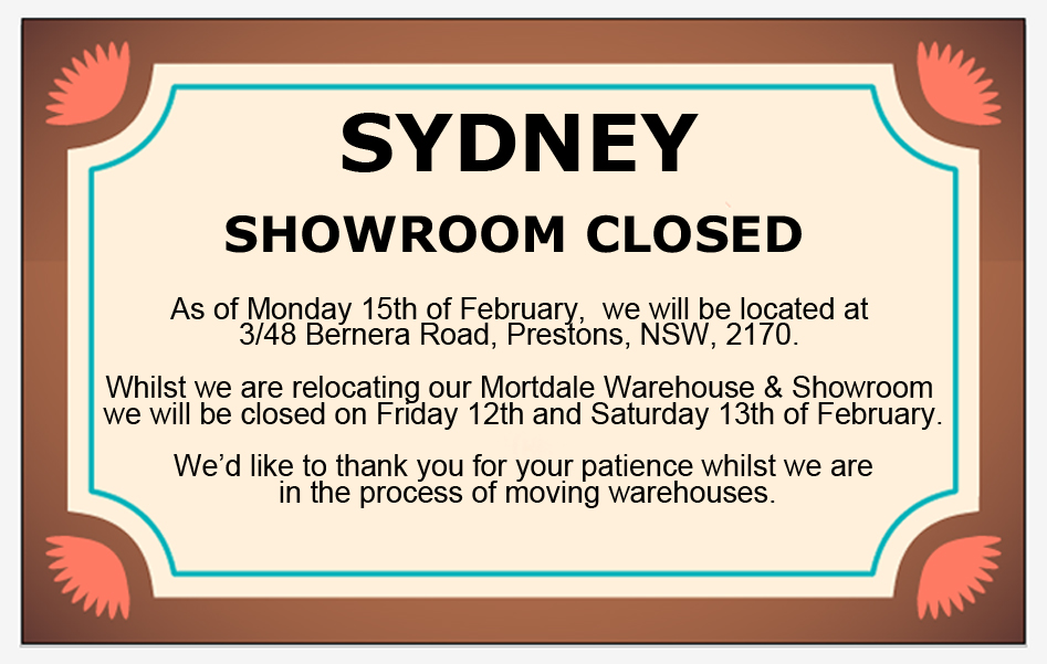 Our Sydney Warehouse is Moving